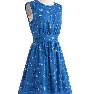 ModCloth Too Much Fun Dress in Horseshoes
